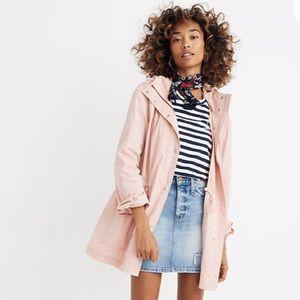 Madewell NWT Pink Anorak Raincoat
